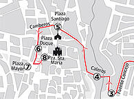 Recorrido de la Virgen de la Monta&ntilde;a de C&aacute;ceres