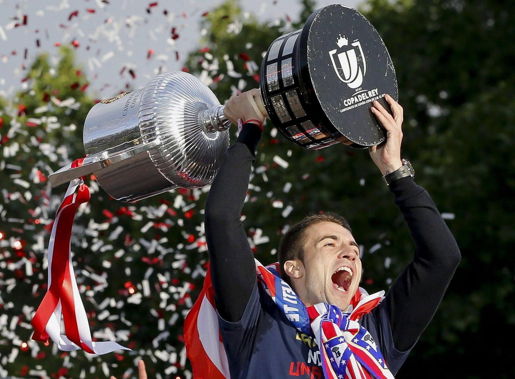 El Atlético celebra la Copa del Rey con sus aficionados