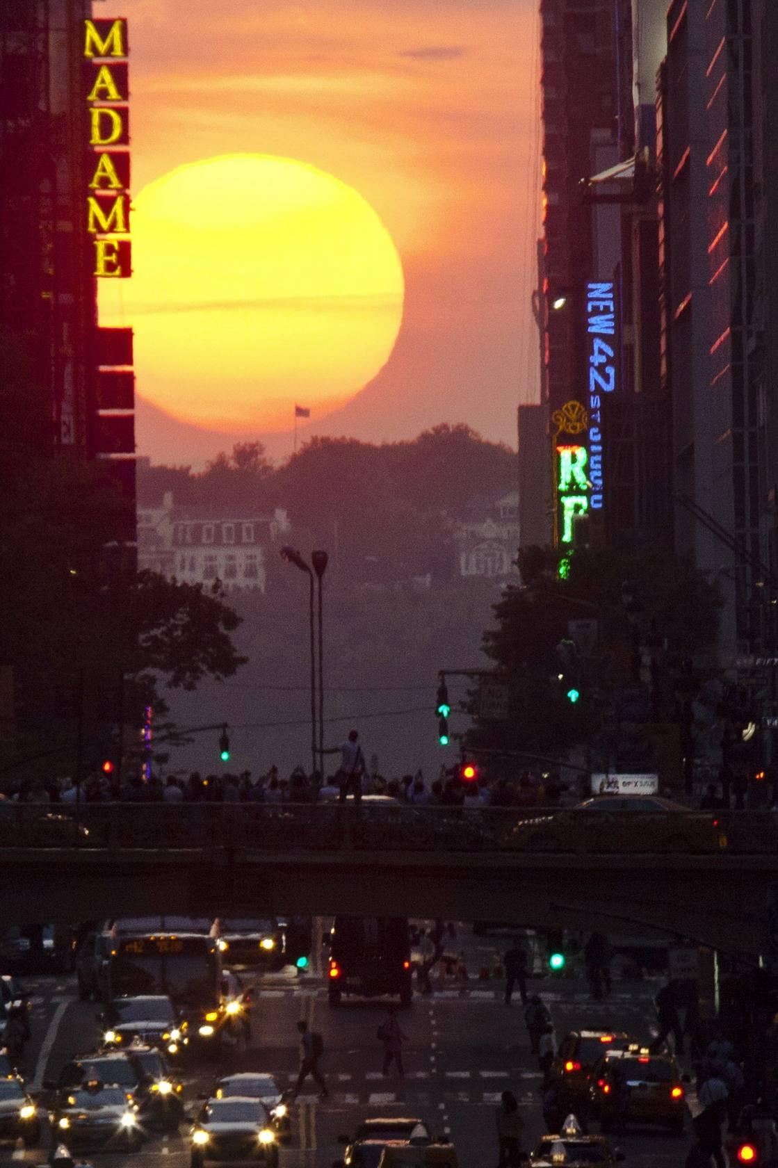 Manhattanhenge, solsticio en Nueva York