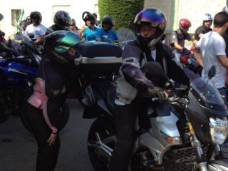 Concentración motera en Puebla de la Calzada