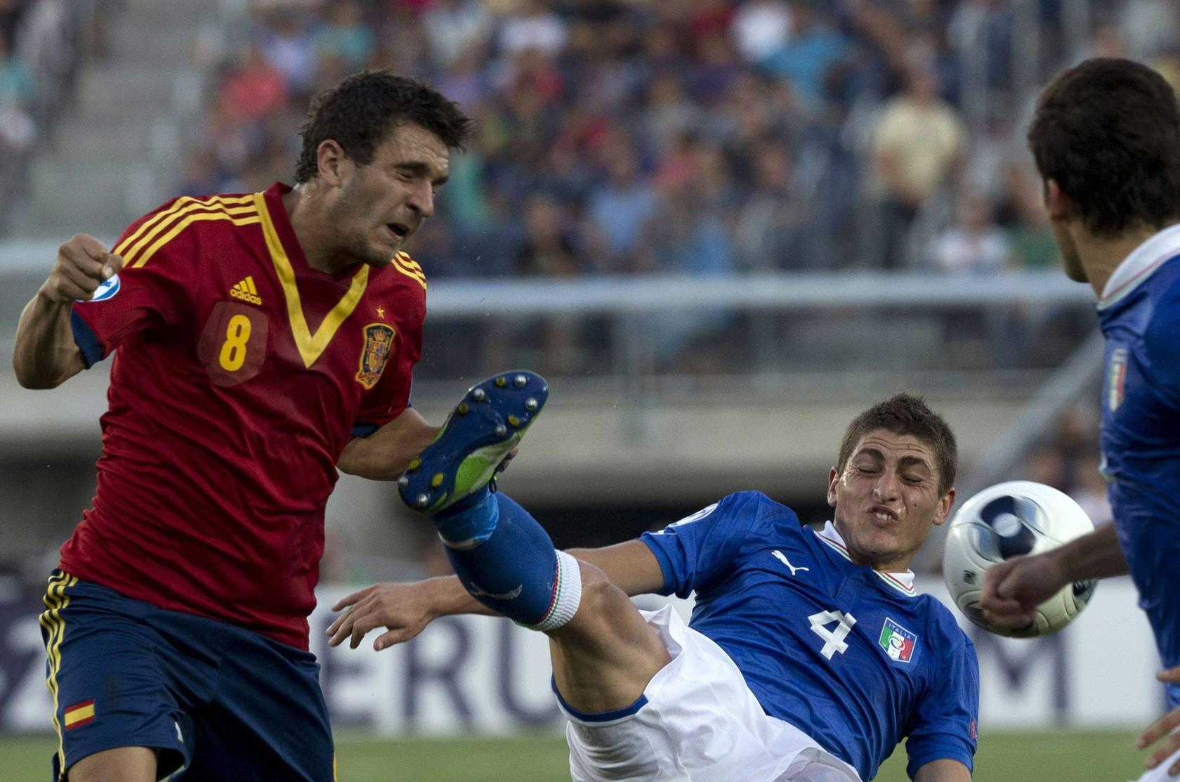 Italia España en la final del Europeo-sub 21 de Israel
