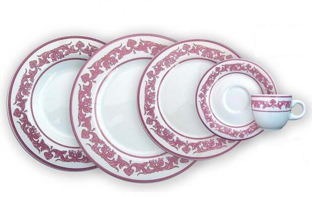 Vajilla Rosso tradicional 30 piezas