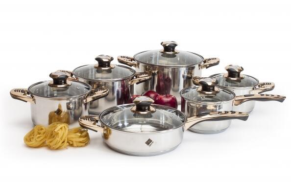 Batería de cocina profesional 12 piezas Houseware