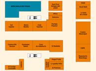 Distribución de las casetas del ferial de Cáceres