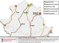 Principales vías Pecuarias de Extremadura