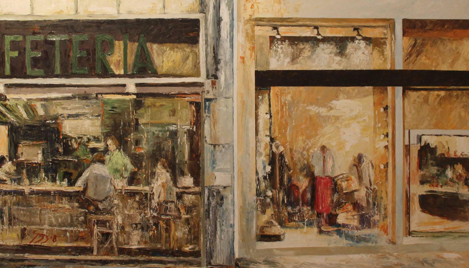 'Paisajes urbanos', de Antonio Gázquez, en el Palacio de las Cigüeñas
