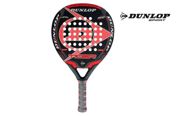 Pala padel Dunlop tiger roja