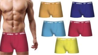 Pack 5 calzoncillos UMBRO en varios colores para hombre
