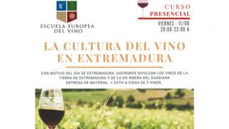 La cultura del vino en Extremadura. Curso/Cata Presencial