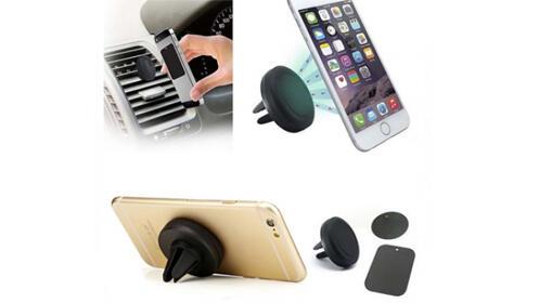 Mini soporte de coche magnético para móviles