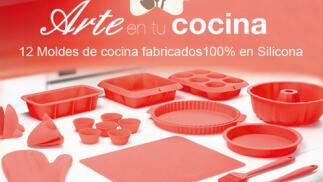 12 moldes de cocina fabricados 100% en Silicona