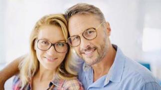 Gafas progresivas: montura más lentes