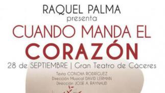 Entrada para el concierto de RAQUEL PALMA, CUANDO MANDA EL CORAZON