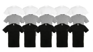Pack de 10 camisetas unisex 100% Algodón
