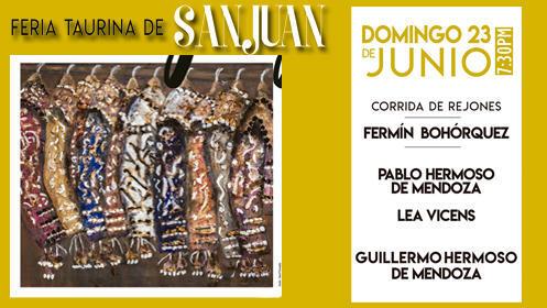 Corrida de Rejones. Feria de San Juan, domingo 23. Sol y Sombra