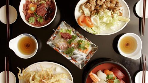 Menú de auténtica comida japonesa a la carta.